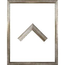 Morena Holz Werkstoff Bilderrahmen 47 x 62 cm modernes sehr eckiges Profil 62 x 47 cm grosse Farbauswahl jetzt: Vintage Metall mit Kunstglas klar 1 mm