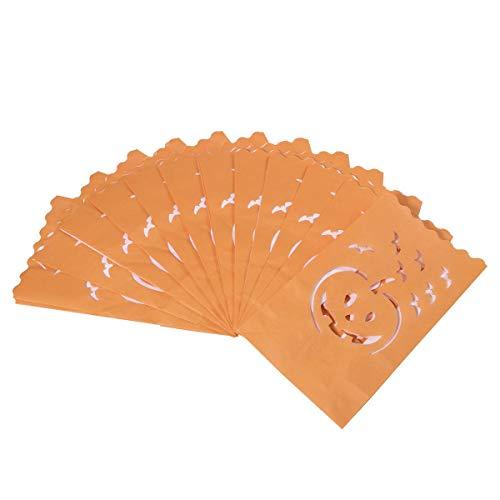 n Staubbeutel Kerzenhalter Staubbeutel Halloween Papier Kerze Tasche Kürbis Fledermaus Teelichthalter Tasche Dekorationen 12 ()