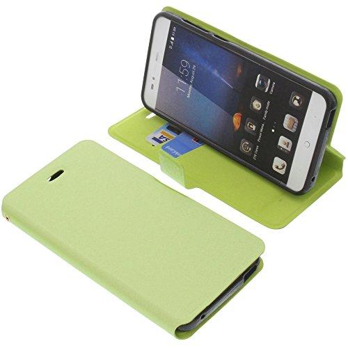 foto-kontor Tasche für ZTE Blade A612 Book Style grün Schutz Hülle Buch