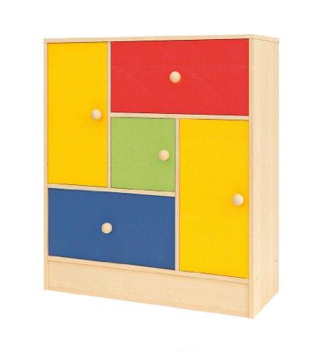 2 Tür, 2 Schublade Sideboard (Creativity Serie Rainbow 2Türen und 3Schubladen Sideboard)