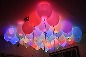 Smartcraft Assorted LED Balloons (Set of 25)
