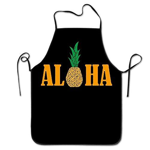 Hawaii-schürze (fdgjfghjdfj Hawaii Pineapple Aloha Adjustable Bib Apron Adult Home Kitchen Apron Chef Apron for Men and Women)