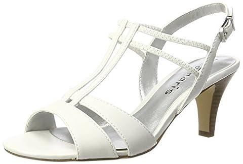 Tamaris Damen 28304 Slingback, Weiß (White 100), 39
