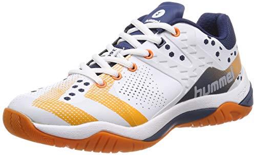 hummel Unisex-Erwachsene DUAL Plate Power Multisport Indoor Schuhe, Blau (Poseidon 8616), 43 EU