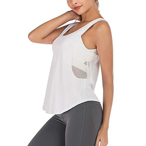Wawer Damen Tanktop  Mode Frauen Sport Yoga Fitness Training Ärmelloses Mesh T-Shirt Weste Tanktops, Druck Shirt Sommer Shirt Freizeit Zuhause -