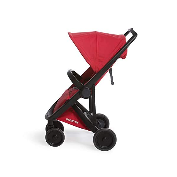 Greentom Classic UPP Lightweight Stroller, Adapters and Rain Cover For 6 Months upto 4.5 Years, Red Greentom High quality lightweight stroller by the brand Greentom Made of high quality (recycled) materials the first green stroller on planet earth Includes, chasisis, seat fabric, canopy, basket, raincover and car seat adapter 3