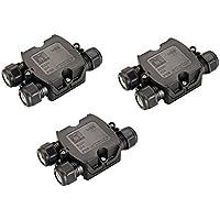 3er Set SLV 3fach Verbindungsbox Kabelverbinder Verbindungsmuffe für Erdkabel IP68