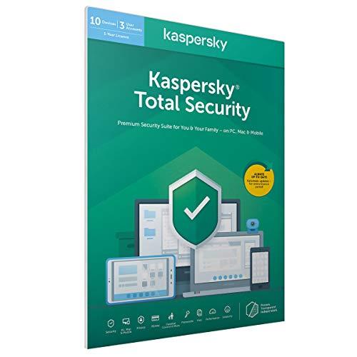 Kaspersky Total Security 2019 | 3 Dispositivi | 2 Anni | PC/Mac/Android/iOS | Codice all'interno di una confezione