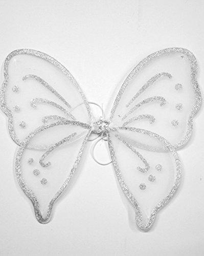 oße Feen-Flügel für Junggesellinnenabschied/Krippenspiel/Halloween Gr. Einheitsgröße, weiß (Flügel Für Halloween)
