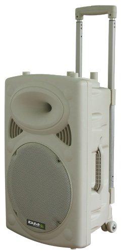Ibiza 15-6037 Mobile Beschallungsanlage 30 cm (12 Zoll) mit USB-MP3, BT, REC, VOX und 2 VHF Funkmikrofonen (Vox-bluetooth-lautsprecher)