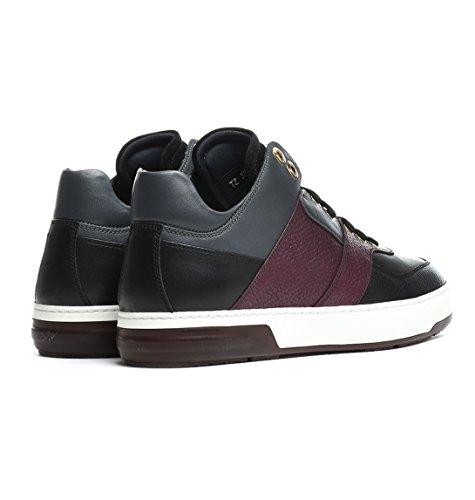MONROE0650277 Salvatore Ferragamo Sneakers Homme Cuir Noir Noir
