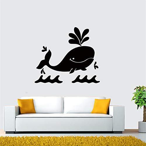 JXYY Wandaufkleber Kinderzimmer Schlafzimmer Kindergarten Cartoon Wal Aufkleber Landschaftsbau dekorative Wandaufkleber Dekoration Salon 43x50cm -