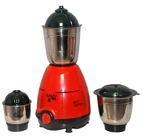 Captain Cook 550 W ISI CERTIFIED Mixer Grinder for Dry/Wet Grinding with 3 Jars(Namo Red).High Performance Mixer Grinder (Made in India- Be Indian Buy Indian)  available at amazon for Rs.1229