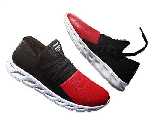 WZG nouveaux sports d'hiver pour hommes chaussures de course mis les pieds chaussures paresseux chaussures étudiants étirer chaussures de mode coréenne Red