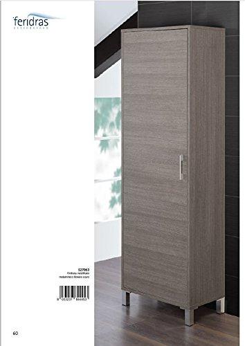Feridras mondo colonna armadio, rovere scuro, 35x40x170 cm