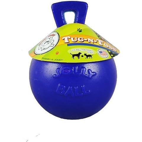 Jolly Animali Tug-n-Toss cane giocattolo, 10cm, Blu