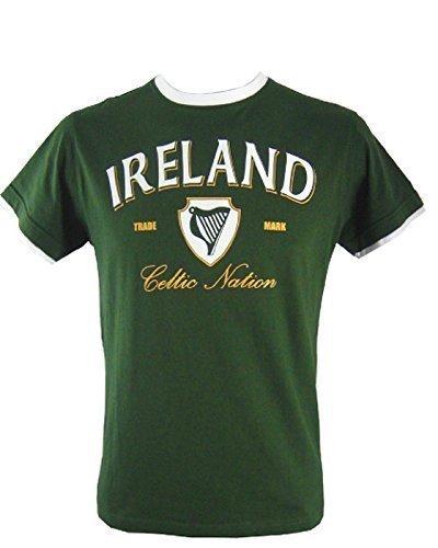 Irland Herren T-Shirts Keltische Nation (Mittel) (Irland-grünes T-shirt)