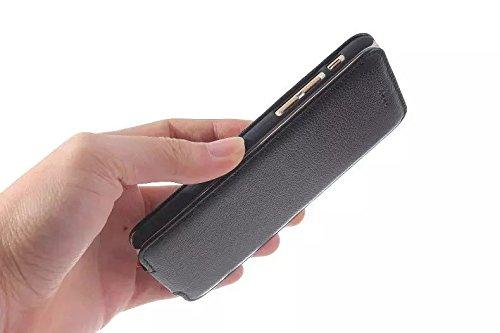 Magnetische Verschluss-Design Vertikale Flip Case, Luxus Premium Echt Leder Schutzhülle für IPhone 6 Plus & 6s Plus ( Color : Black ) White