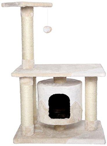 Dibea KB00224 Árbol Rascador Escalador para Gatos, Altura 90 cm, Color Beige y Blanco