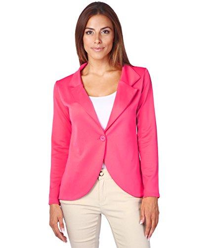 3558-CER-08: KRISP Damen Fashion Blazer (Pink, Gr.36) (Blazer Hose Anzug Jacke)