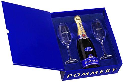 POMMERY Champagne Brut Royal Coffret + 2 Flûtes (carton)