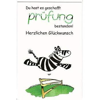 Lustige Glückwunschkarte Bestandene Prüfung: Amazon.de