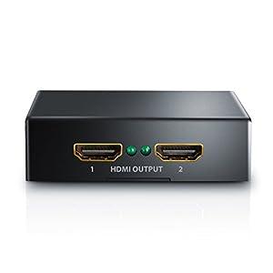 CSL - 4k UHD HDMI Splitter / Verteiler   4k Ultra HD 2160p / Full HD 1080p   CEC   HDCP   3D Ready   Deep Color 30bit, 36bit, 48bit   vergoldete Kontakte   Metallgehäuse