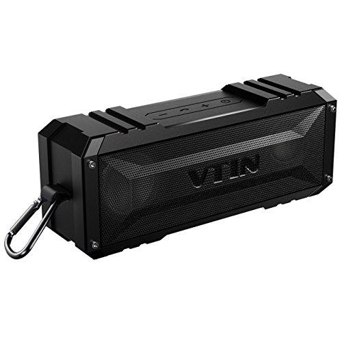 VTIN Bluetooth-Lautsprecher, 20-W-Dual-Drive-Wireless-Lautsprecher, 30 Stunden Spielzeit, Deep Bass und integriertes Mikrofon für iOS- und Android-Geräte, Outdoor-Bergsteigen und mehr tragbar X-series Dual-subwoofer-box