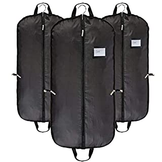 Abimars Breathable Garment Bags Travel Suit Clothes Covers Carrier Bags Black for Men Dustproof with Handles 63 * 153cm (60