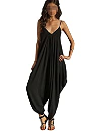 "Antemi - Femmes - Combinaison pantalon type sarouel ""Jyta"" - Noir - Taille M"