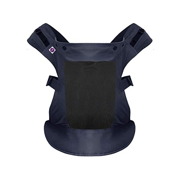 Izmi Toddler Breeze Carrier, Featuring Breathable Mesh Panel, Ideal for Babies 9 Months Plus, Midnight Blue Izmi Ideal for carrying babies 9 months plus Features a mesh panel for extra ventilation and breath-ability Padded waistband for extra support 1
