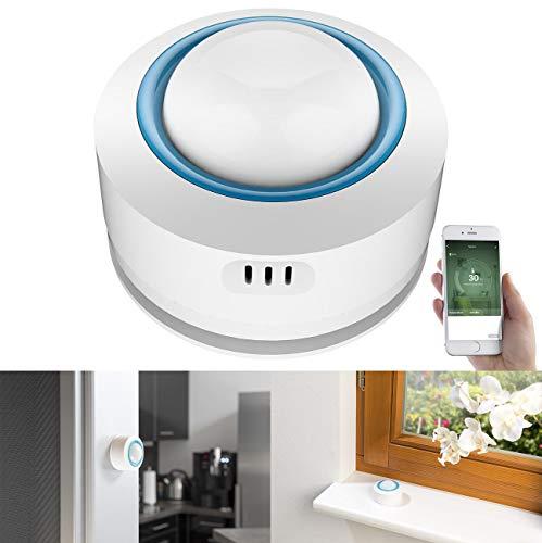 Luminea Home Control WLAN Temperatursensor: WLAN-Temperatur- & Luftfeuchtigkeits-Sensor, 7-Tage-Datenspeicher, App (Smart Home Thermometer WLAN)