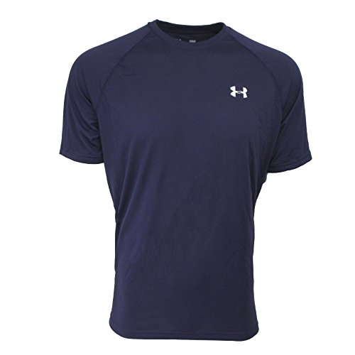 Under Armour Herren Fitness T-Shirt UA Tech Tee Marine Blue / White
