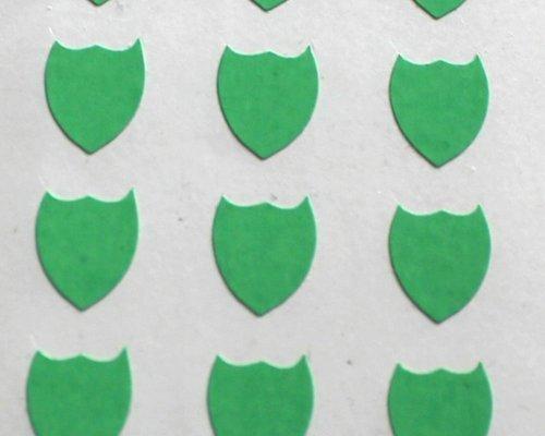 150 Etiquetas, 10x8mm Forma De Escudo, Verde, pegatinas autoadhesivas, Minilabel Formas