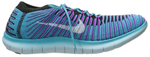 Nike W Free Rn Motion Flyknit, Scarpe da Corsa Donna Blu (Gamma Blue / White-Blk-Hypr Vlt) (bianco)