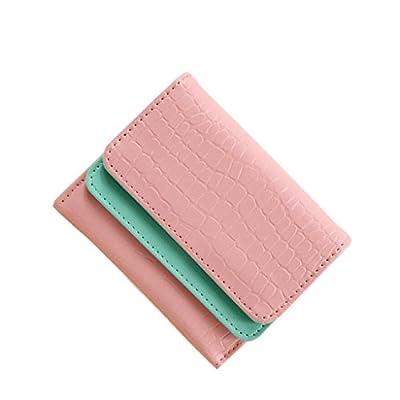 ZLR Mme portefeuille Portefeuille à double couche de petite taille Wallet