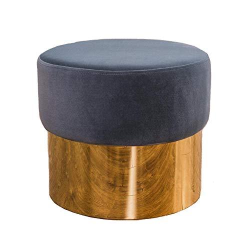 WYYY Bürostuhl Fußhocker Polsterhocker Makeup Hocker Fußstütze Ottomane Runden Schuh Bench Wohnzimmer Schlafzimmer Durable stark (Farbe : Blue-Gray)