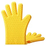 gloveszhu Insulation Gloves Silicone Heat-Resistant Thickening High Temperature Anti-Scalding Gloves Kitchen Microwave Oven Baking Tools