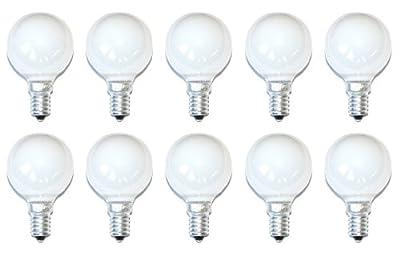 10 x Glühbirne Glühlampe Tropfen 40W 40 Watt E14 Opal Weiss MATT Kugellampe