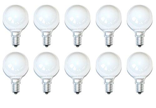 10 x Glühbirne Glühlampe Tropfen 25W 25 Watt E14 Opal Weiss MATT Kugellampe - Glühlampe Kugel Birnen
