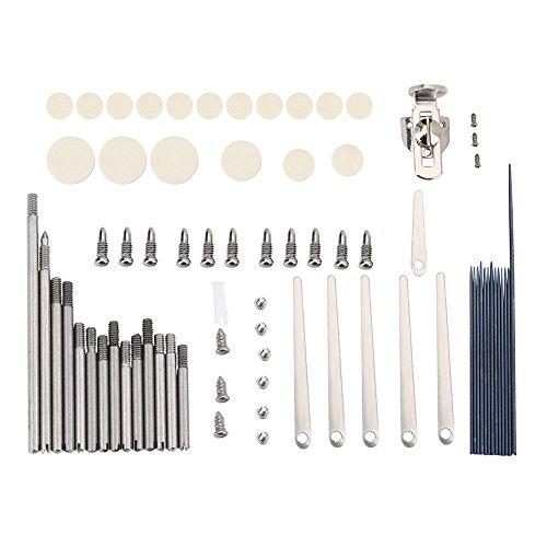 Dilwe Klarinetten Reparatur Werkzeug Set, Rollen Klarinettenfedern Befestigungsschrauben Einstellschraube Pad