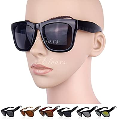 QHGstore Grande grueso marco de las lentes gafas de sol gafas de moda