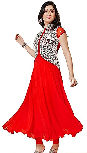 Vastra Fashion Women's Gown Latest Party Wear Designer Georgette Embroidery Semi Stitched...