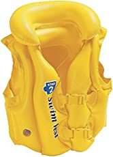 Tag3 Branded Delux School Children Swim Vest Life Jacket for Swimming Pool, Medium (Yellow)