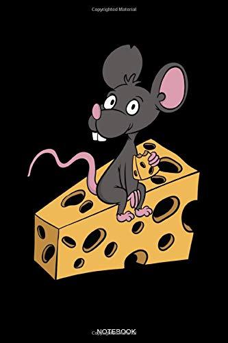 Notebook: Lustiges Käse Notizbuch mit Maus für Käse Süchtige Geschenk Käseverkäufer Notizen zu Schweizer Käse Fondue Rezepte Low Carb Koch Heft ... Block I Größe 6 x 9 I Liniert I 120 Seiten