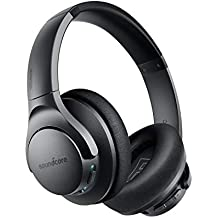Soundcore Life Q20 Bluetooth Headphones, Wireless Over-Ear Headphones with Active Noise Cancellation, 30 Hours Playtime, Hi-Res Audio