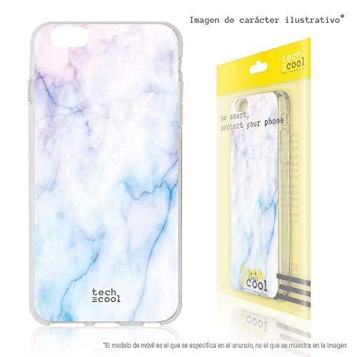 Funnytech® Funda Silicona para Xiaomi Redmi 4A [Gel Silicona Flexible, Diseño Exclusivo] Textura marmol Azul