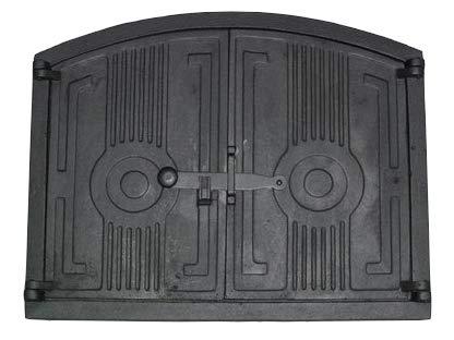 Brotofentür Holzofentür 48 x 38,5 cm Ofentür aus Gusseisen Gußeisen Pizzaofentür, Steinofentür