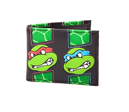 (Teenage Mutant Ninja Turtles Brieftasche Faces offiziell Nue Bifold)