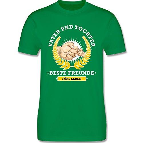 Shirtracer Vatertag - Vater und Tochter - Beste Freunde fürs Leben - Herren T-Shirt Rundhals Grün